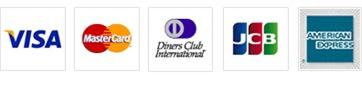 使用可能なクレジットカード:VISA/Master/Diners Club/JCB/AMERICAN EXPRESS