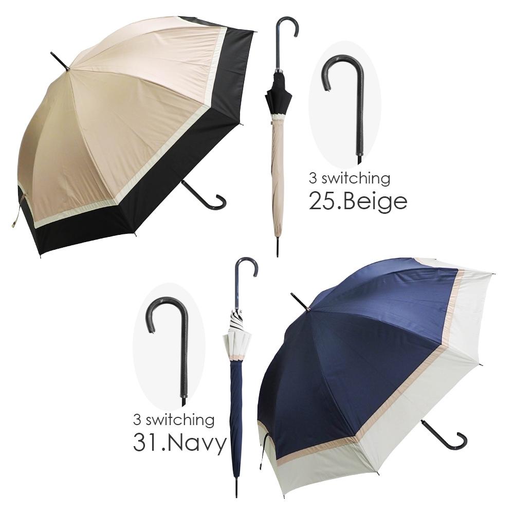 100%完全遮光 超撥水 ブラックコーティング耐風折りたたみ傘 makez.