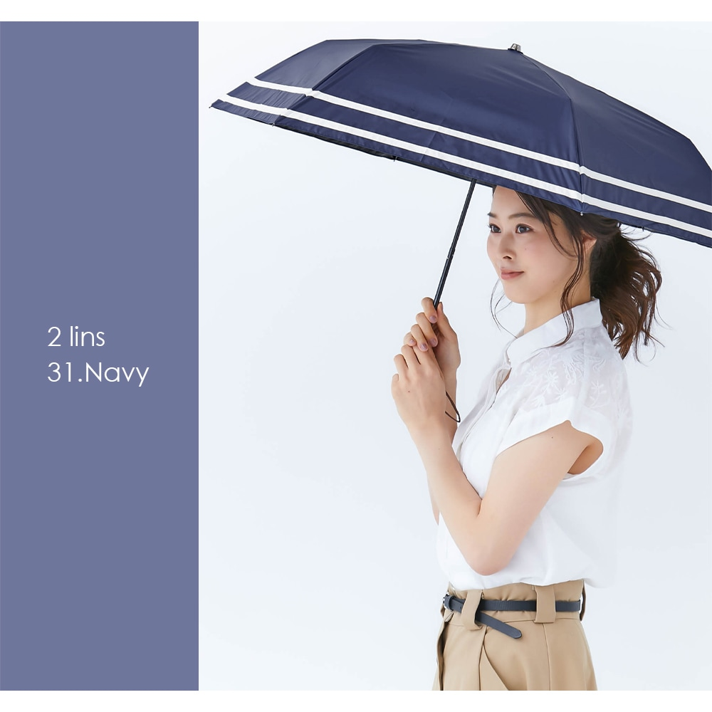 100%完全遮光 日傘/雨傘 超撥水 軽量コンパクト 折りたたみ傘 makez.マケズ