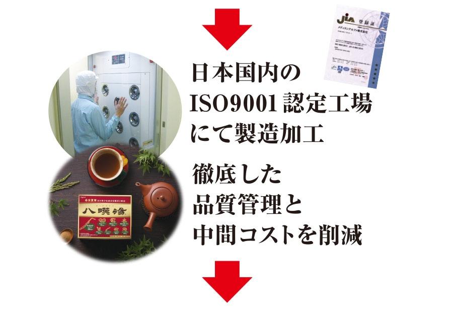 日本国内のISO9001認定工場にて製造加工 徹底した品質管理と中間コストを削減