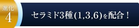 セラミド3種(1,3,6)を配合!〜進化4