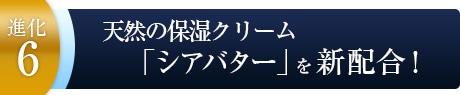 天然の保湿クリーム「シアバター」を新配合!〜進化6