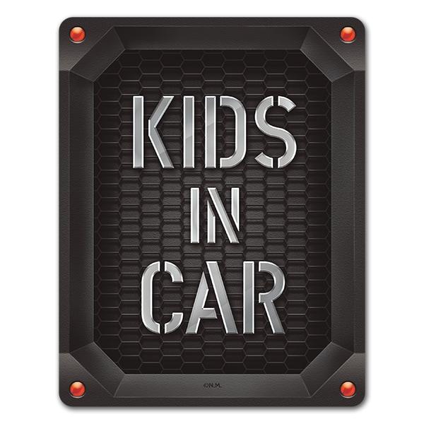 トリックアートデザイン 車グリルエンブレム風【KIDS IN CAR】