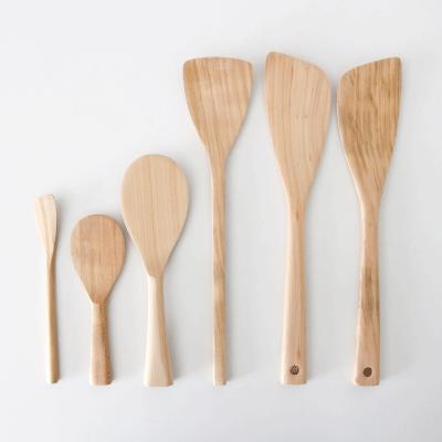 木のキッチンツール(宮島工芸製作所) スパテラ しゃもじ 杓子 スパチュラ