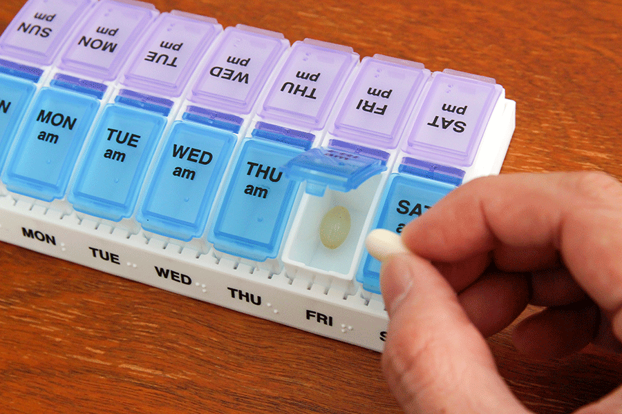 Weekly AM/PM Pill Planner(ウィークリーピルプランナー)/ezy dose(イージードース)