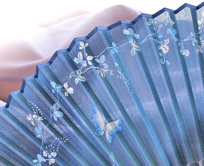 女性用扇子・藍乃町