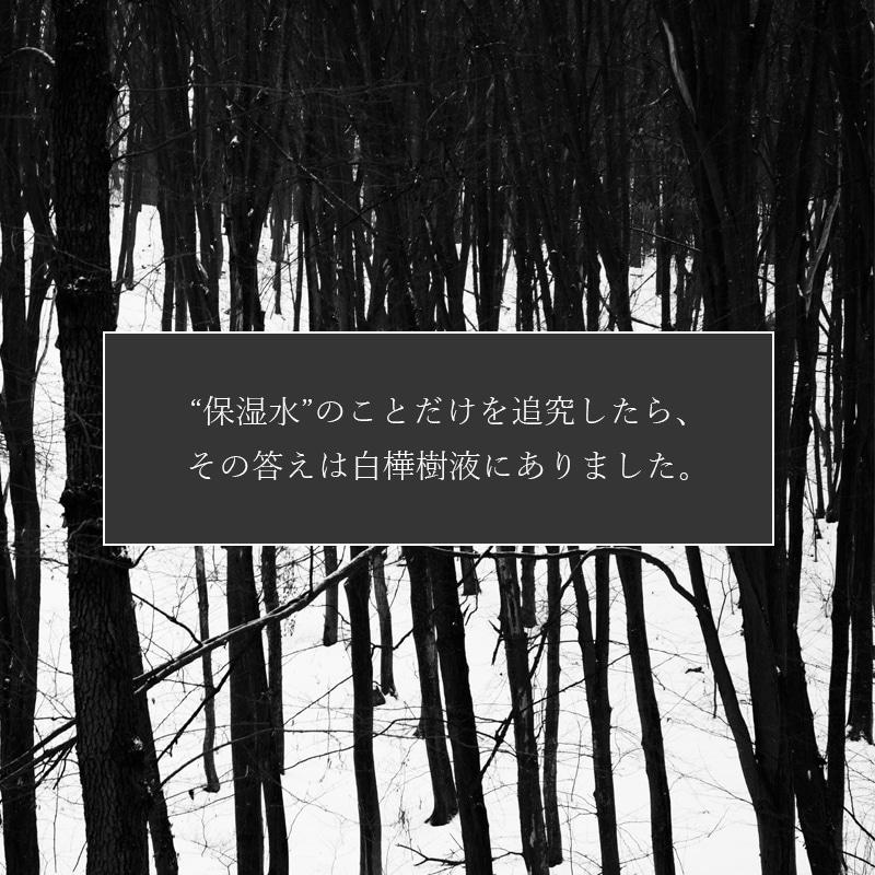 保湿のことだけを追究したら、その答えは白樺樹液にありました。