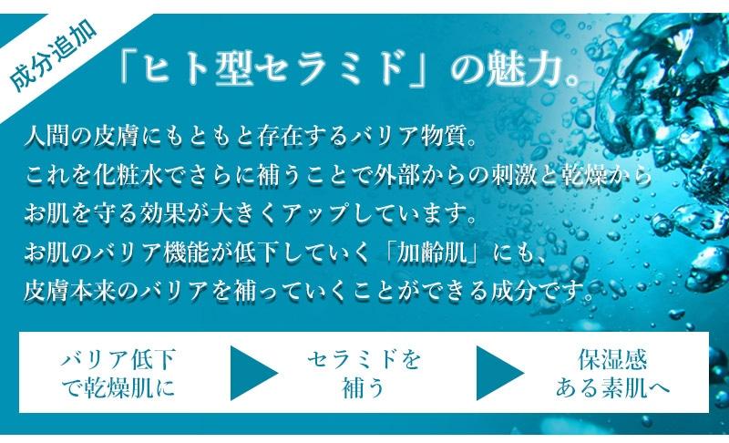 ヒト型セラミド配合の化粧水