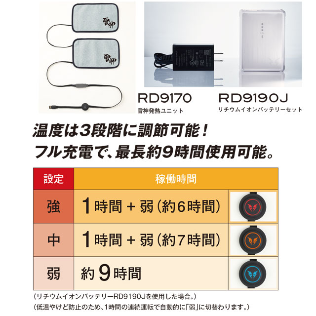 電熱ウェア EBA718 バッテリー