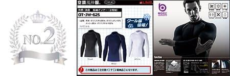 速乾インナー『涼しさ倍増』部門ランキング:NO.2