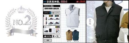 空調服『綿100%』部門ランキング:NO.2