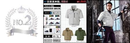 空調服『帯電防止』部門ランキング:NO.2
