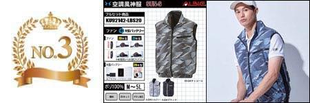 空調服『涼しさマックス』 部門ランキング:NO.3