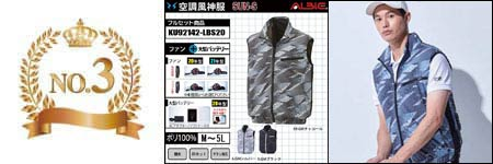 空調服『カモフラ柄』部門ランキング:NO.3