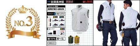 空調服『綿100%』部門ランキング:NO.3