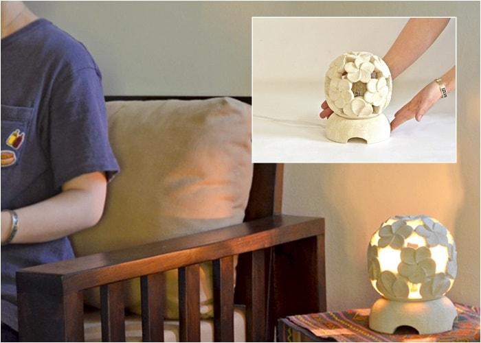 アジアンランプ,照明,間接照明,ガーデンライト,石彫ライト