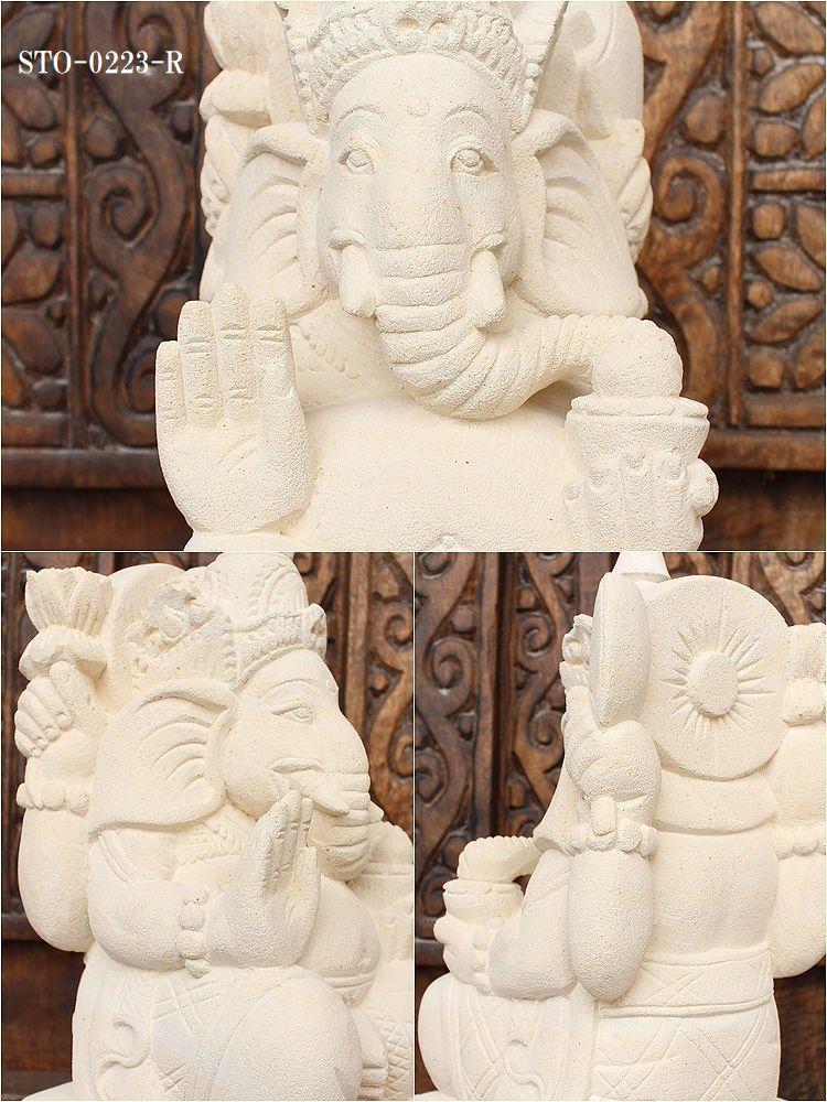 アジアン,石彫り,石像 ガーネーシャ,バリ島,ストーンカービング,外構,ガーデニング