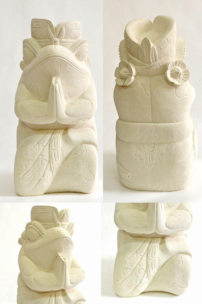 アジアン雑貨,石像,石彫り,カエル,バリ島