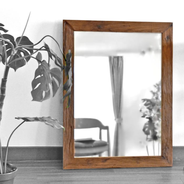 チーク家具,古材 古木,アジアン,無垢,銘木,姿見,鏡,ミラー,送りもの,店舗用