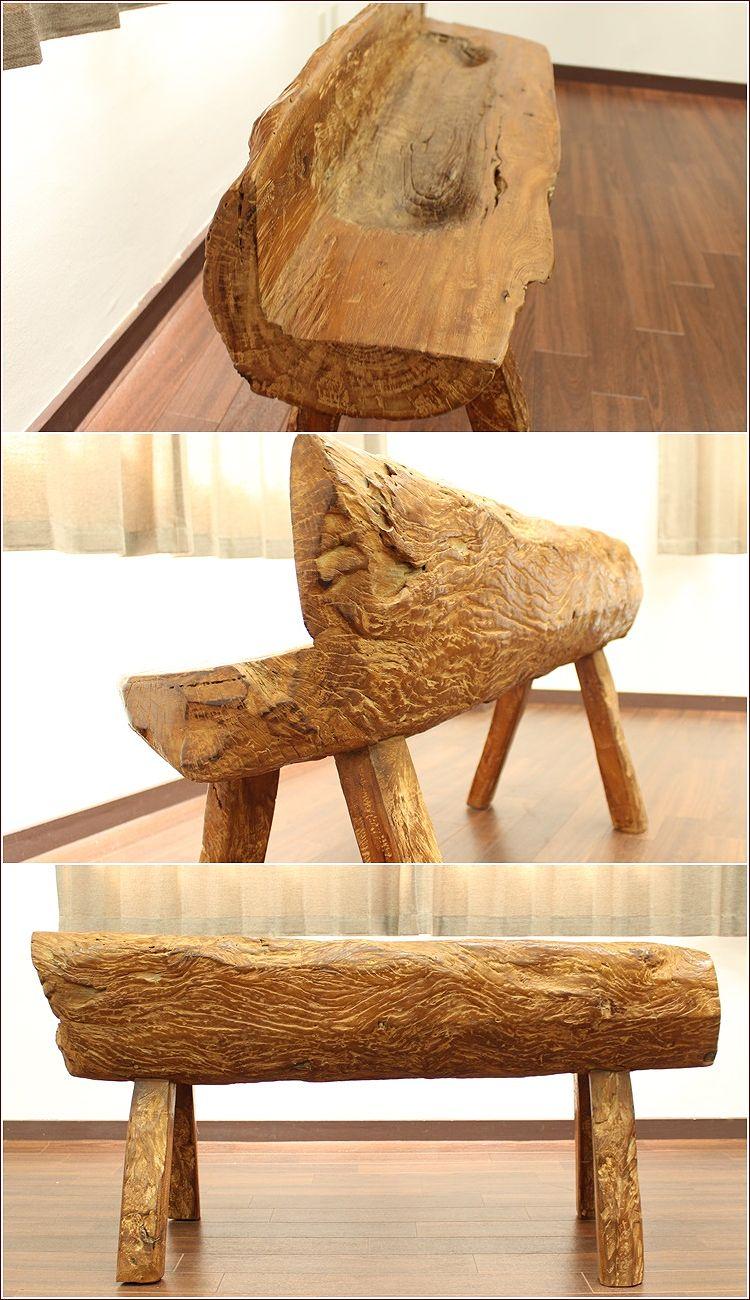 アジアン家具 バリ家具 チーク 古材 古木 ベンチ