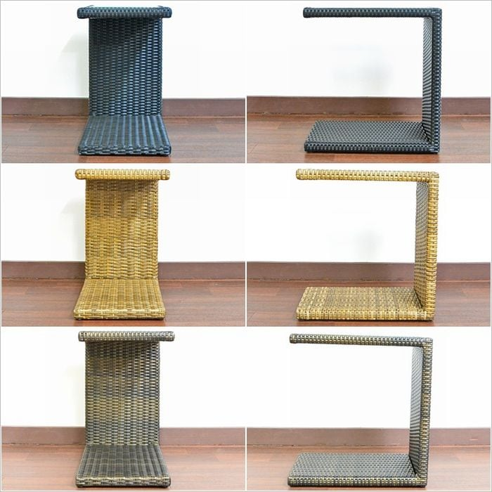 シンセティックラタン 人工ラタン,サイドテーブル,カフェテーブル,ウッドデッキ,バルコニー