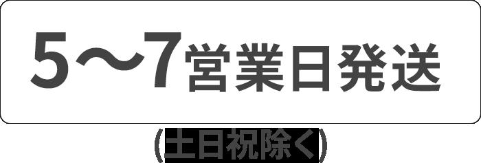 5〜7営業日発送
