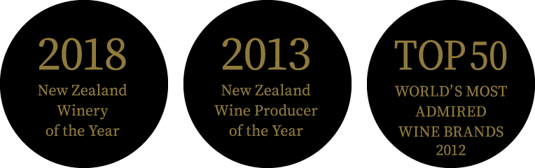 2018 New Zealand Winery of the Year / 2013 New Zealand Wine Producer of the Year / TOP50 WORLD'S MOST ADMIRED WINE BRANDS