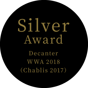 Silver Award Decanter WWA 2018(Chablis 2017)