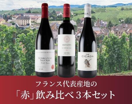 フランス代表産地の「赤」飲み比べ3本セット
