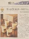 日本経済新聞何でもランキング一度は食べたい取り寄せプリン