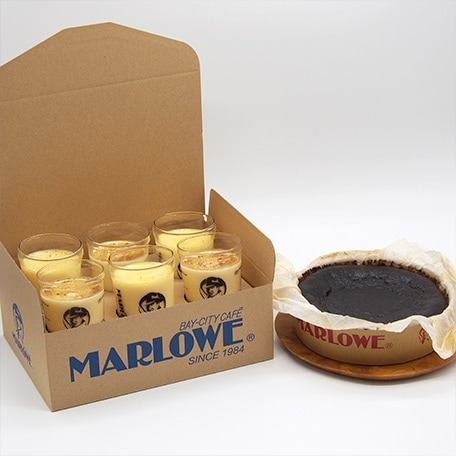 プリンとバスクチーズケーキ(紙型)のセット