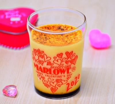 バレンタイン限定ビーカー入り北海道フレッシュクリームプリン