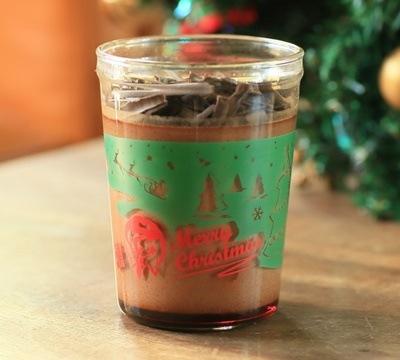 チョコレートクリスマスプリン