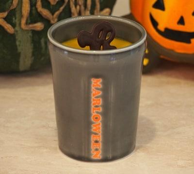 マロウィン陶器入り おばけチョコのせかぼちゃプリン