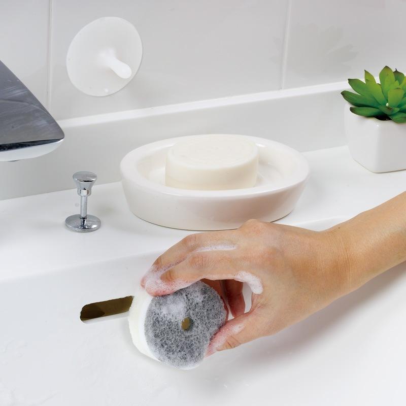 洗面スポンジPOCO吸盤付き W615