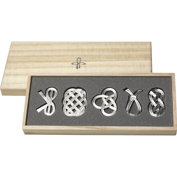 能作 錫-すず- 箸置「結び」 5個セット