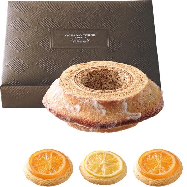 バームクーヘン&オレンジ・レモンクッキー