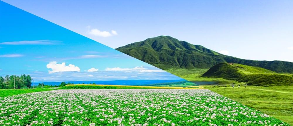 九州と北海道両方のイメージ画像