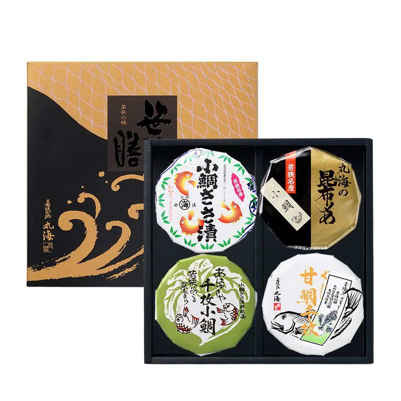 笹漬膳 4ヶ入(小鯛ささ漬・小鯛昆布〆・千枚小鯛・甘鯛千枚)