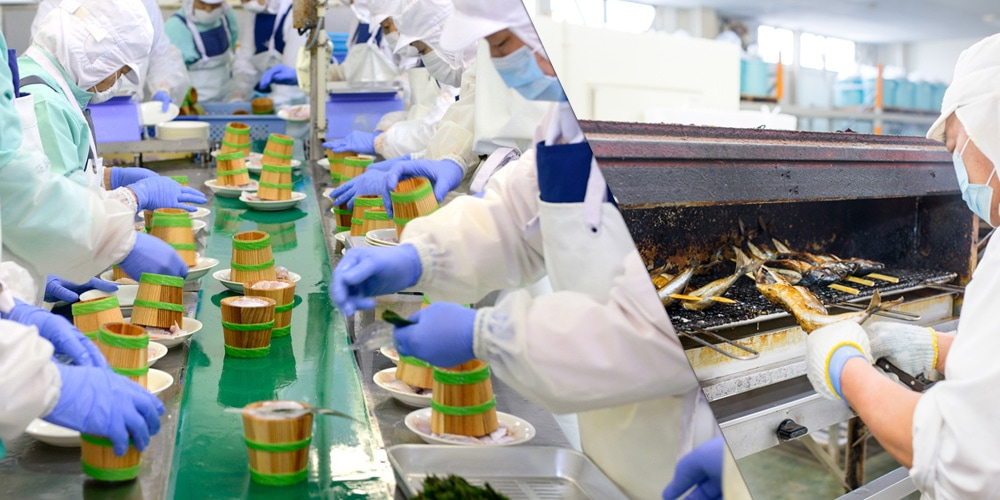 海産物の生産過程