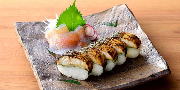 焼さば鮨とささ漬の人気セット