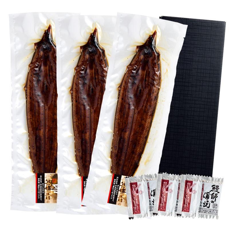 鹿児島県産 うなぎ蒲焼き 約220g×3尾 (タレ、山椒付き)