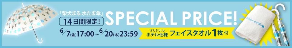 柴犬まる 水たま傘 SPECIAL PRICE