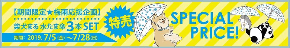 水たま傘3本セット特売