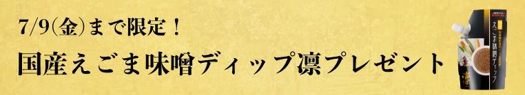 国産えごま味噌ディップ凛プレゼント_細バナー