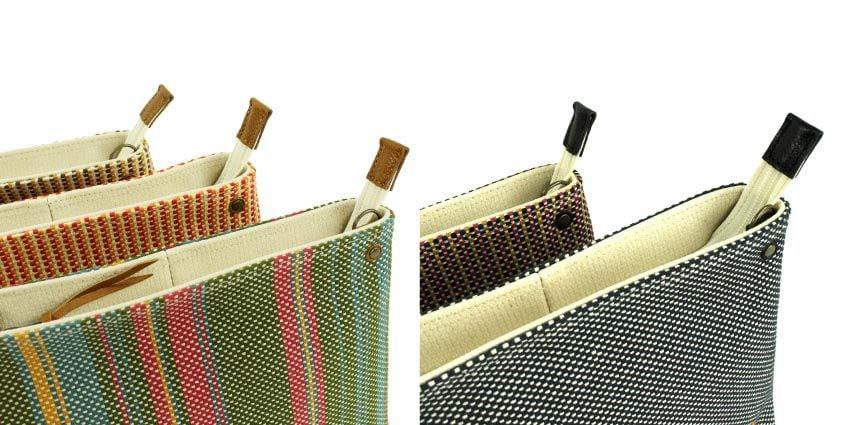 ポシェットに使用されている本革パーツは柄によって色が異なります。
