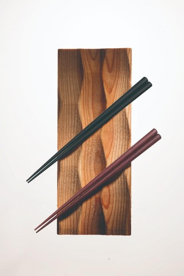 黒檀を使用した高級箸