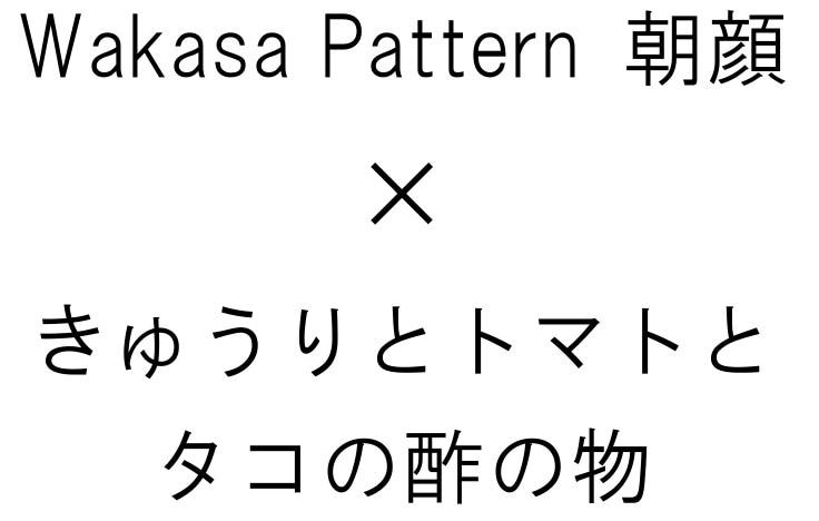 wakasa pattern 朝顔