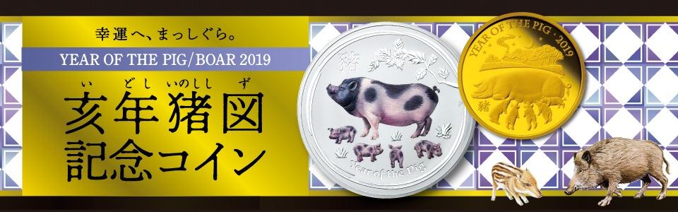 亥年猪図記念コイン