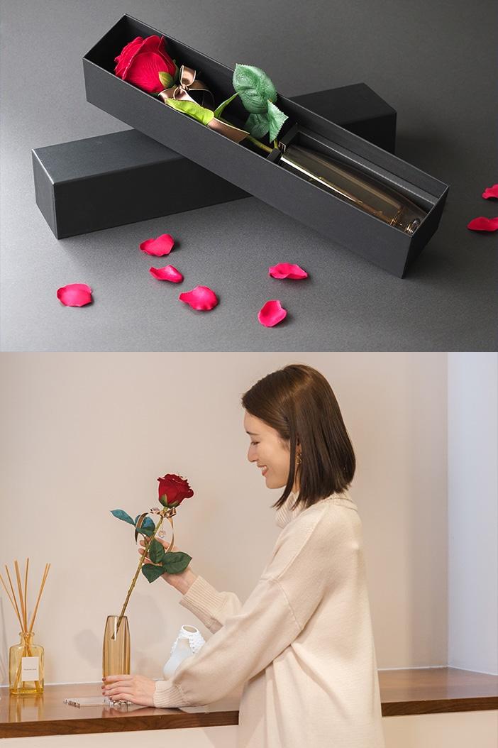 メッセージローズ赤バラ